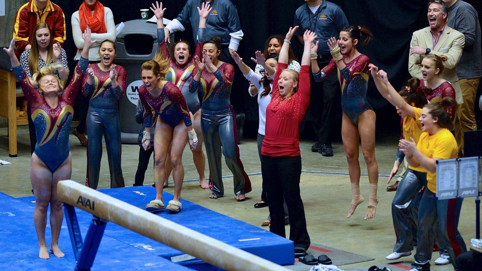 caitlin brown iowa state gymnastics meet
