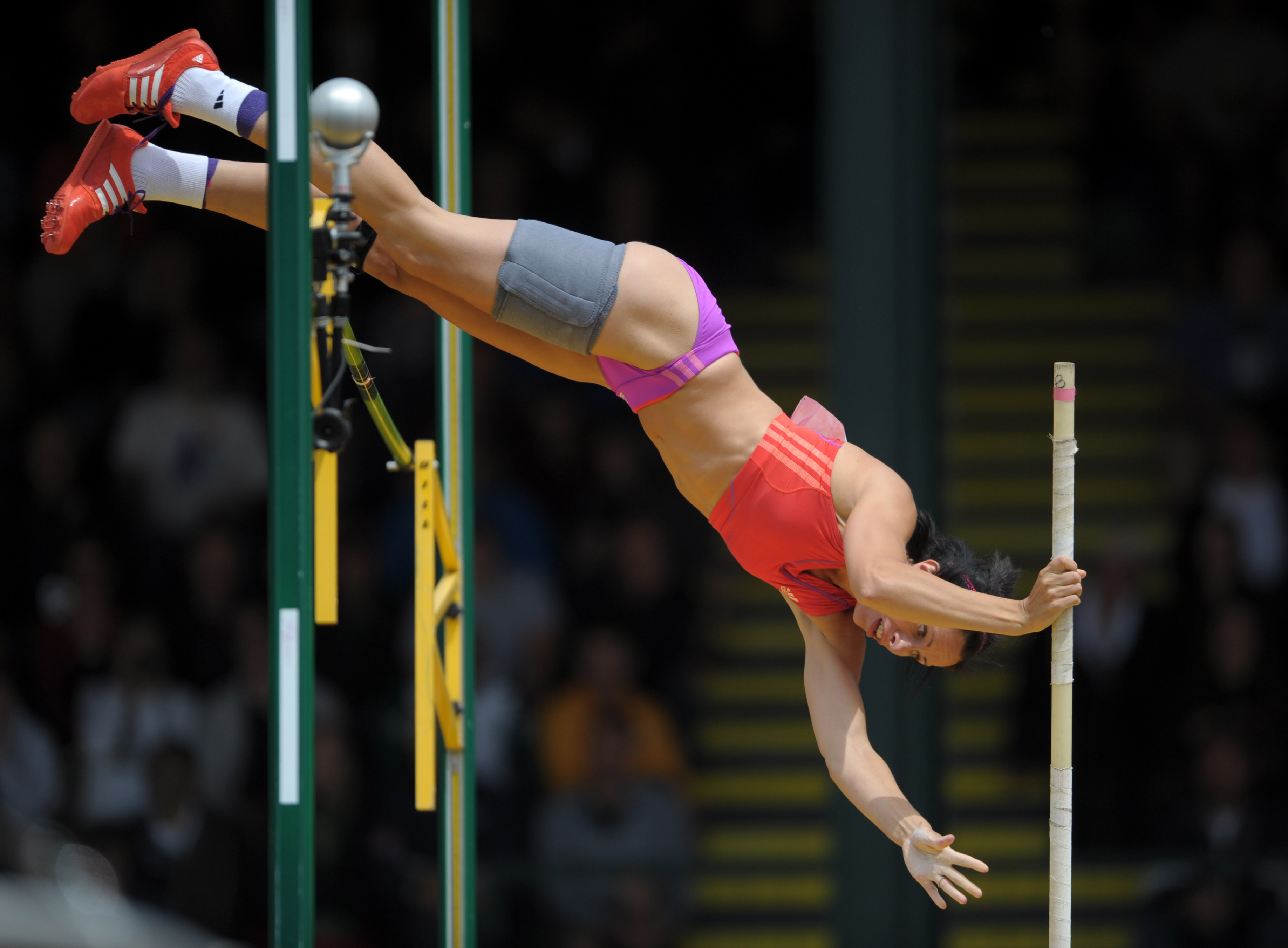 All charm! Top women pole vaulter excellent answer